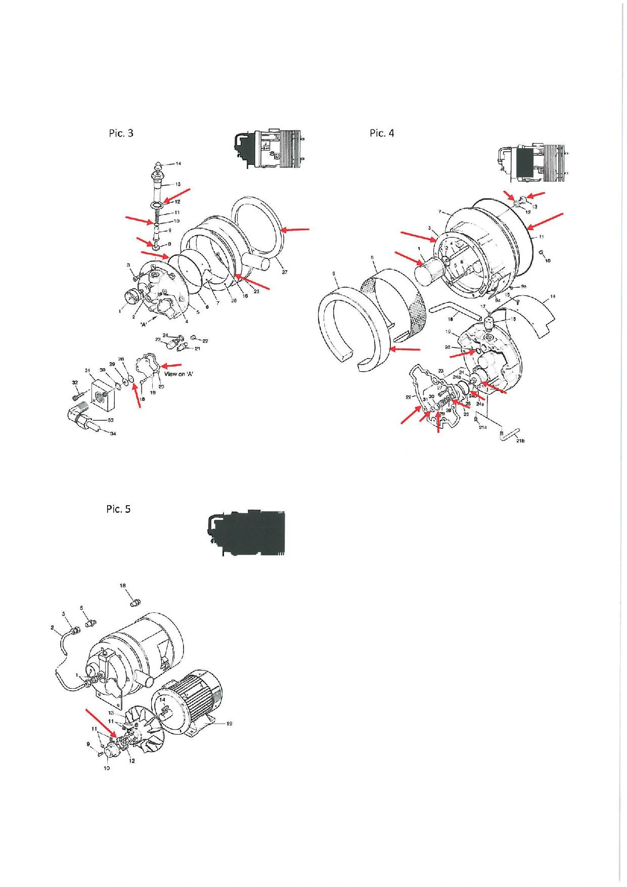 Ремонтен к-т за компресор Hydrovane  TA6 за тролеи Соларис